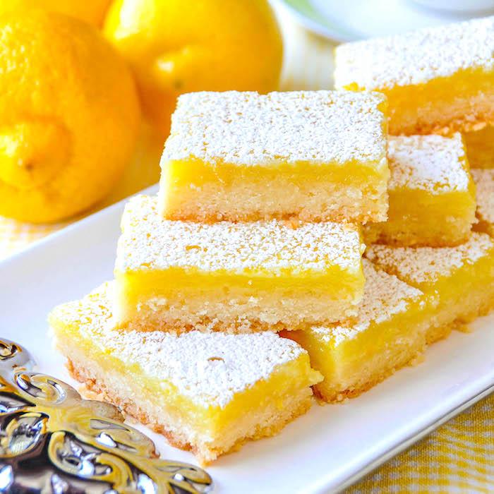 My Favorite Snacks - Lemon Squares
